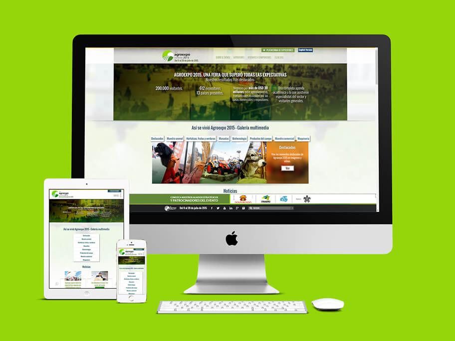 Agroexpo Corferias, diseño de página web responsive en HTML5