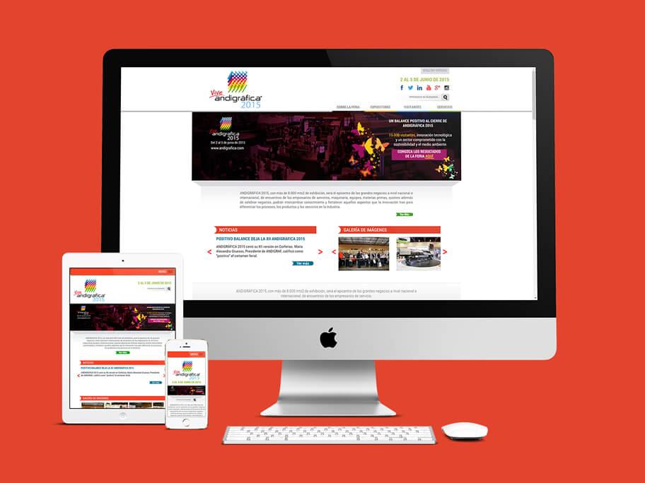 Andigrafica Corferias, diseño de página web responsive en HTML5