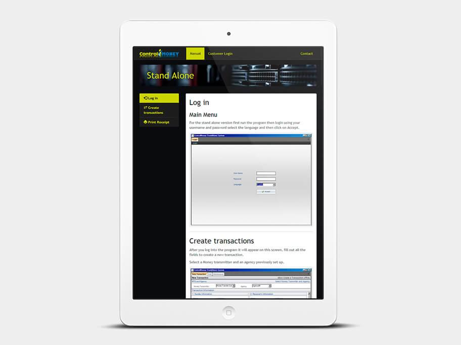 ControlBox, manual, tablet
