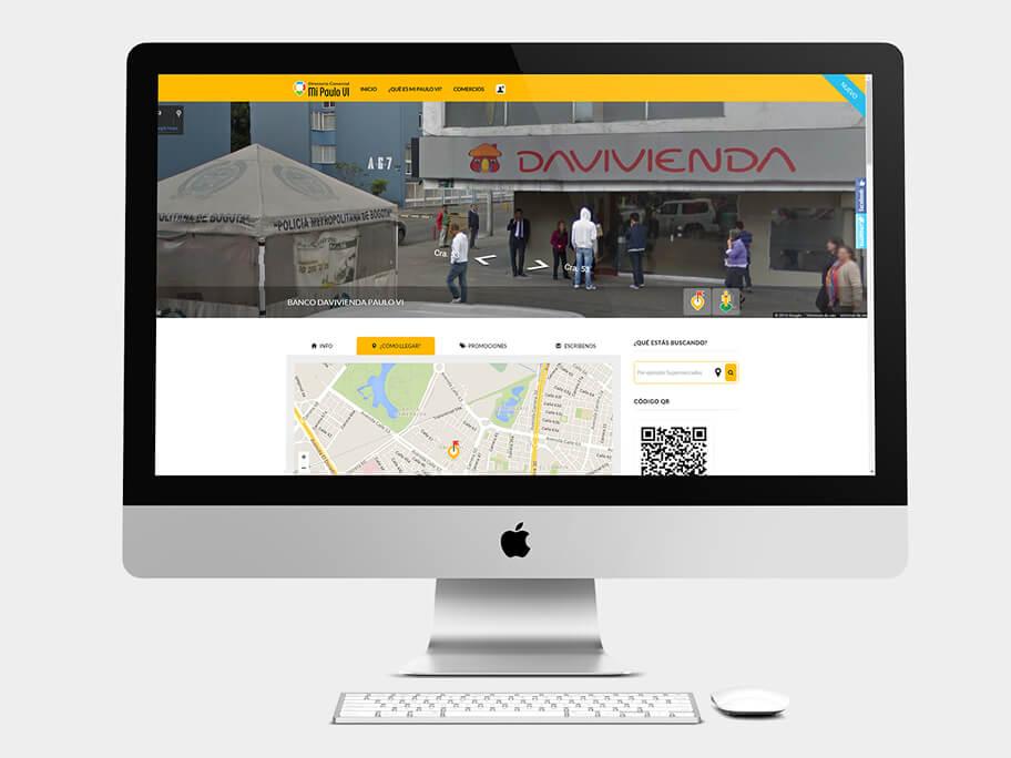 Mi Paulo VI, página de Comercio con Street View, computador