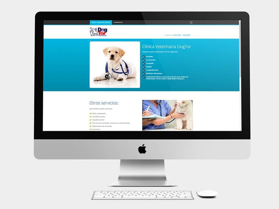 DogTor, página de inicio, en computadores