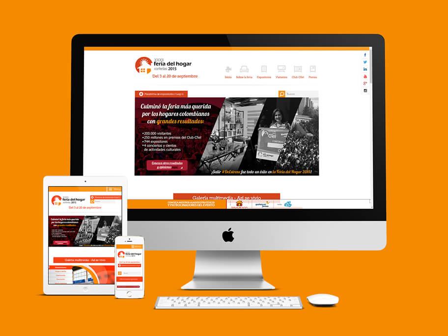 Feria del Hogar Corferias, diseño de página web responsive en HTML5