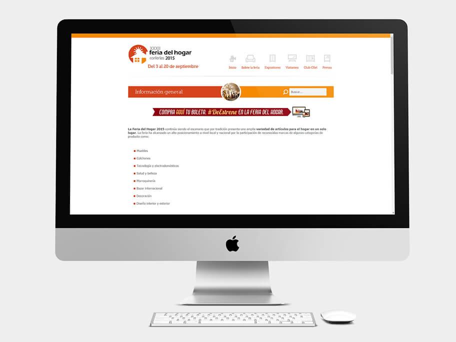 Feria del Hogar Corferias, página información general, en computadores