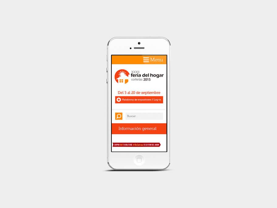 Feria del Hogar Corferias, página información general, en smartphones
