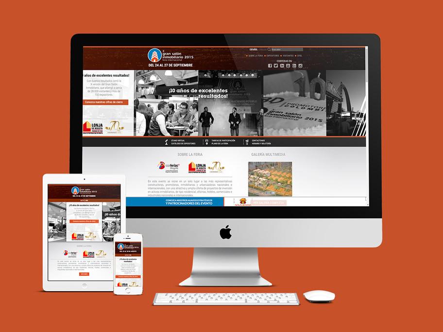 Gran Salón Inmobiliario Corferias, diseño de página web responsive en HTML5