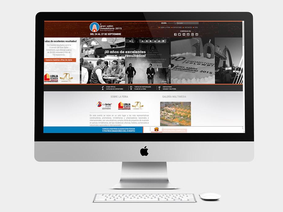 Gran Salón Inmobiliario Corferias, página de Inicio, computador