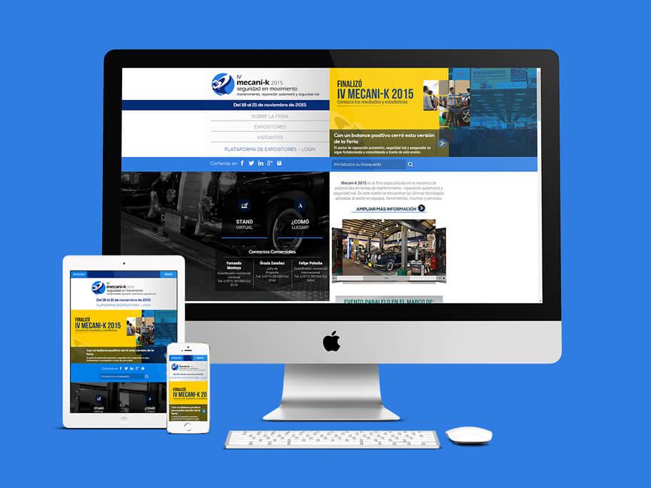 Mecanik Corferias, diseño de página web responsive en HTML5