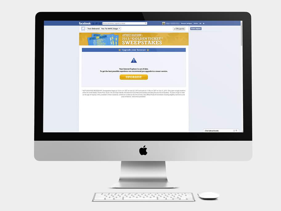 Antiques Roadshow PBS, página de Actualice su navegador, computador