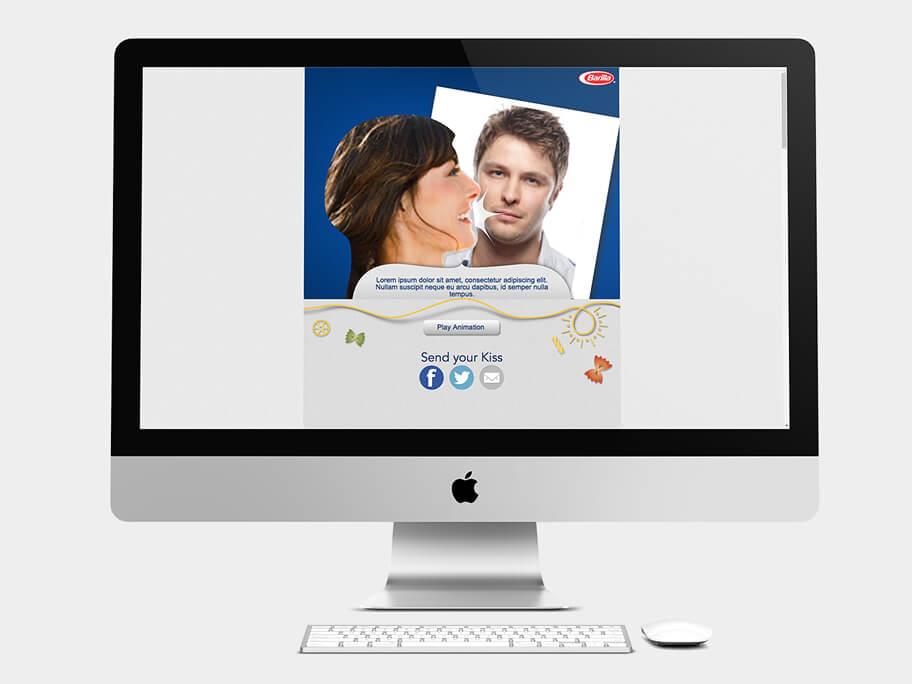 Barilla Pasta, página de Enviar Segundo Mensaje, computador