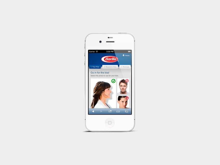 Barilla Pasta, página de Subir Segunda Foto, smartphone