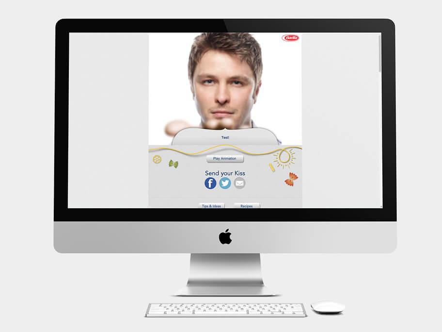 Barilla Pasta, página de Enviar Mensaje, computador