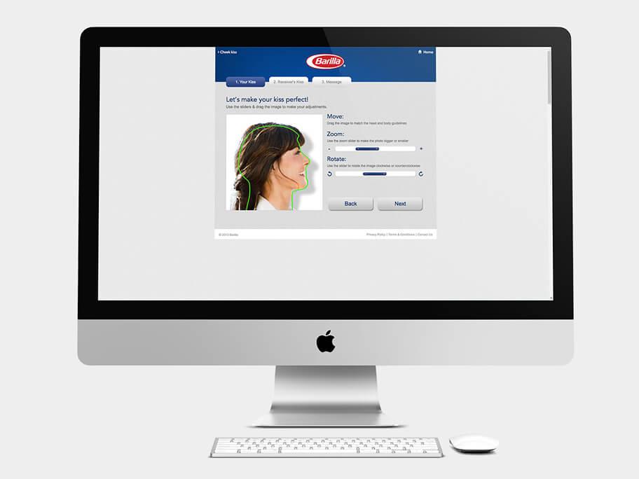 Barilla Pasta, página de Encuadrar Primera Foto, computador
