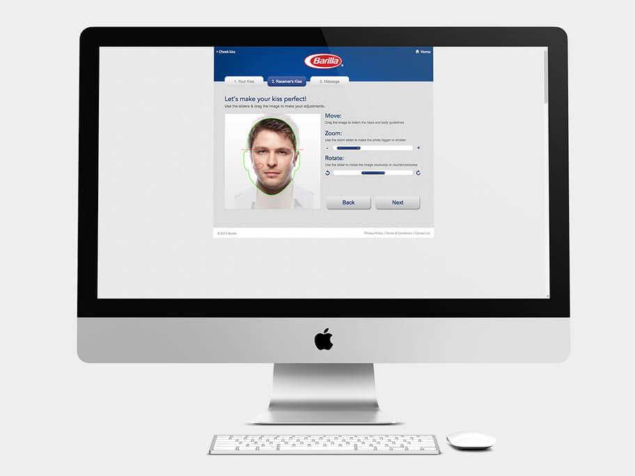 Barilla Pasta, página de Encuadrar Segunda Foto, computador