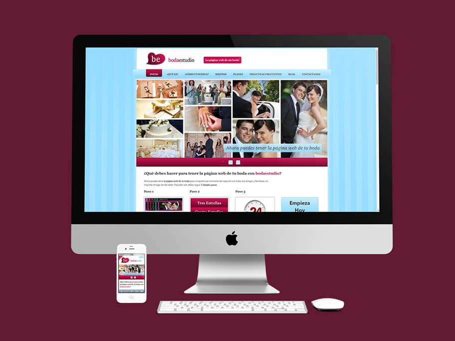 BodaEstudio, diseño de página web responsive en WordPress