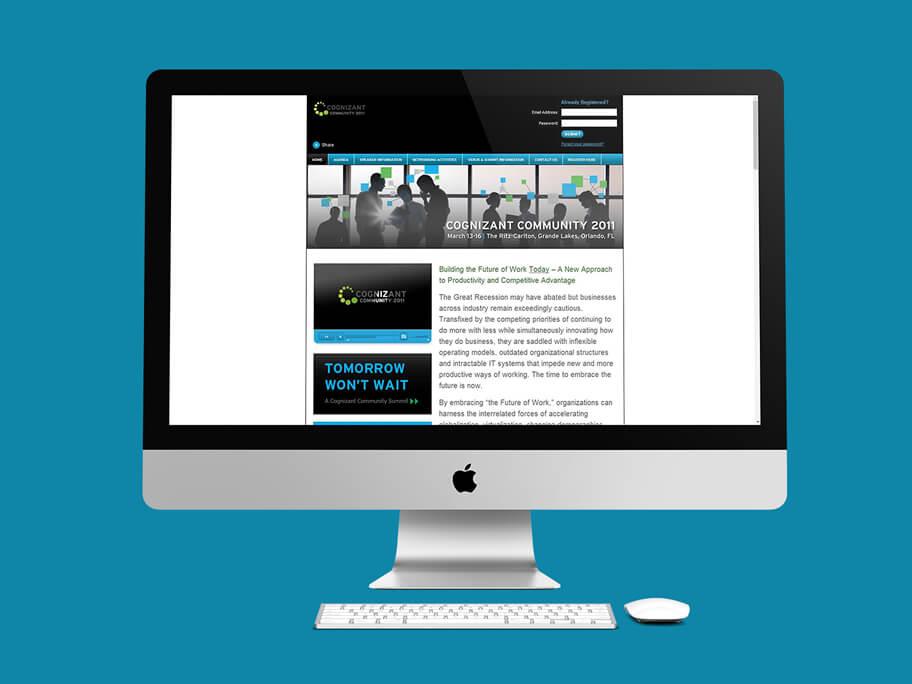 Cognizant Community, diseño de página web en HTML5