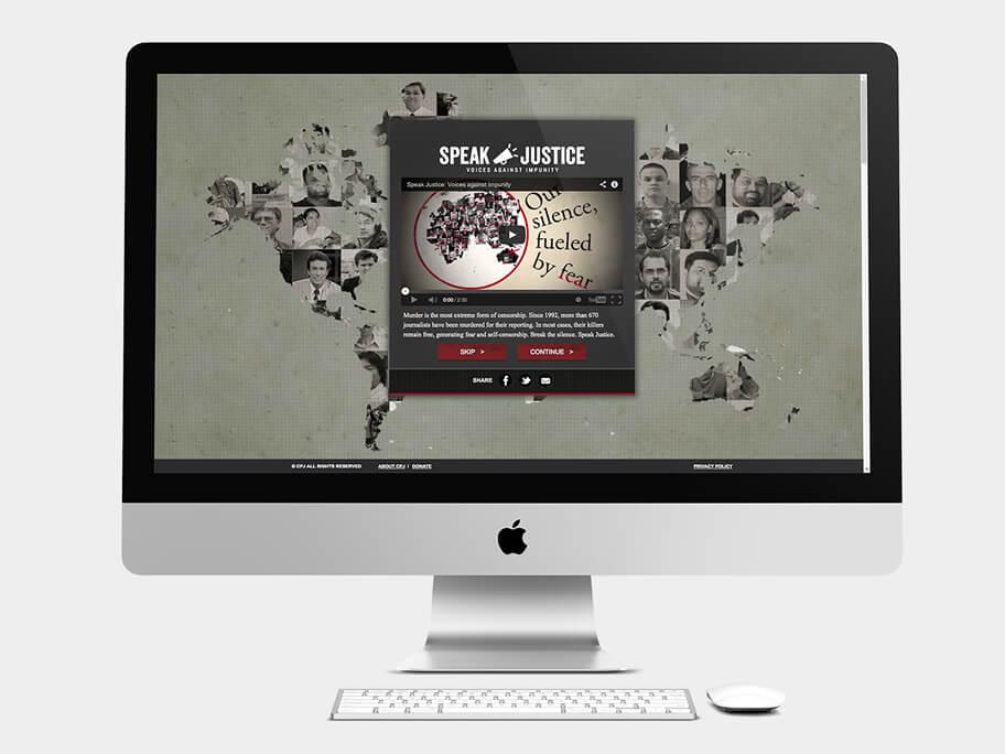 CPJ, página de Video, computador