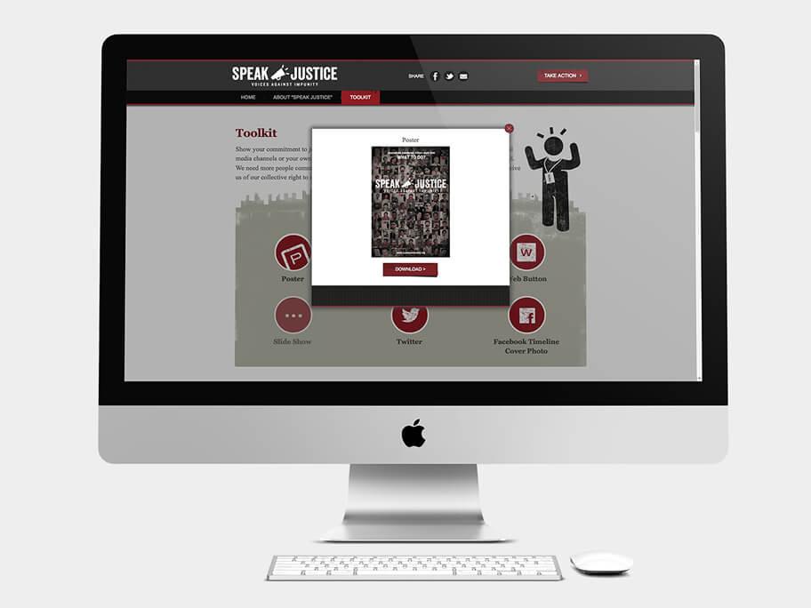 CPJ, pop-up de Afiche descargable, computador