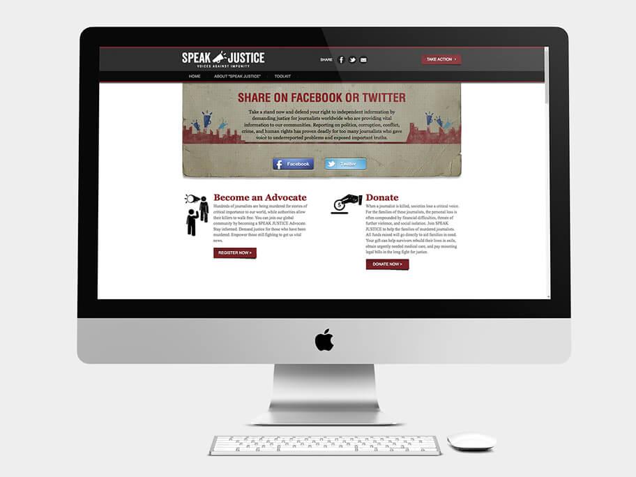 CPJ, página de Compartir, computador