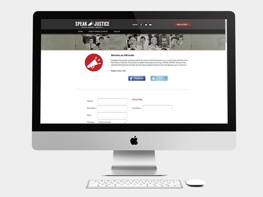 CPJ, página de Registro, computador