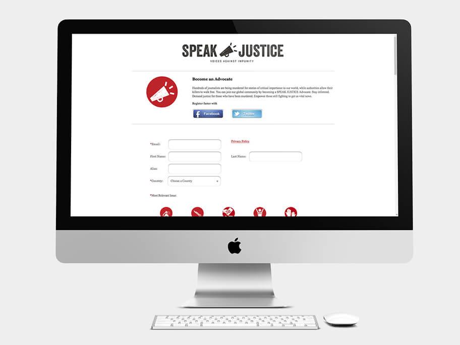 CPJ, página de Registro alternativo, computador