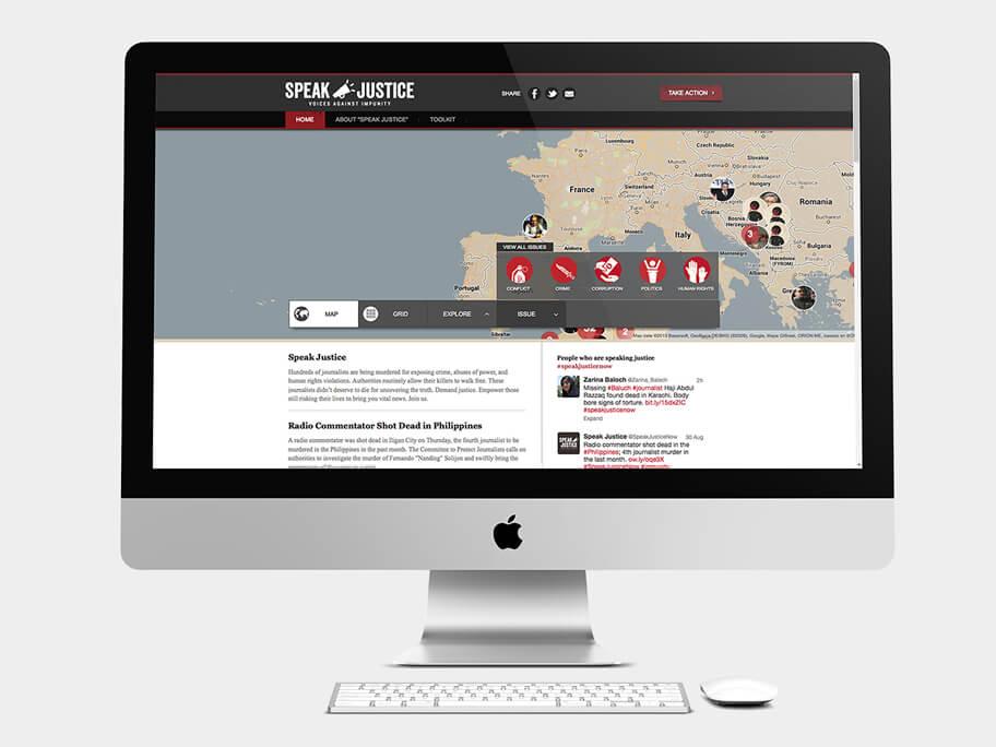 CPJ, página de Inicio con menú, computador