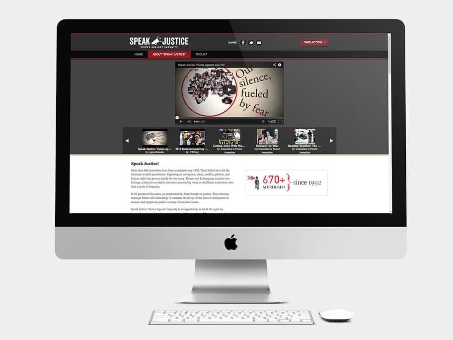CPJ, página de Videos, computador