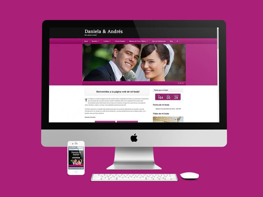 Daniela y Andrés, diseño de página web responsive en WordPress