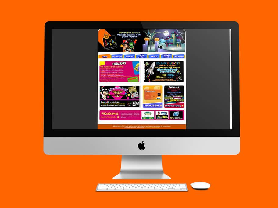 Divercity, diseño de página web en HTML
