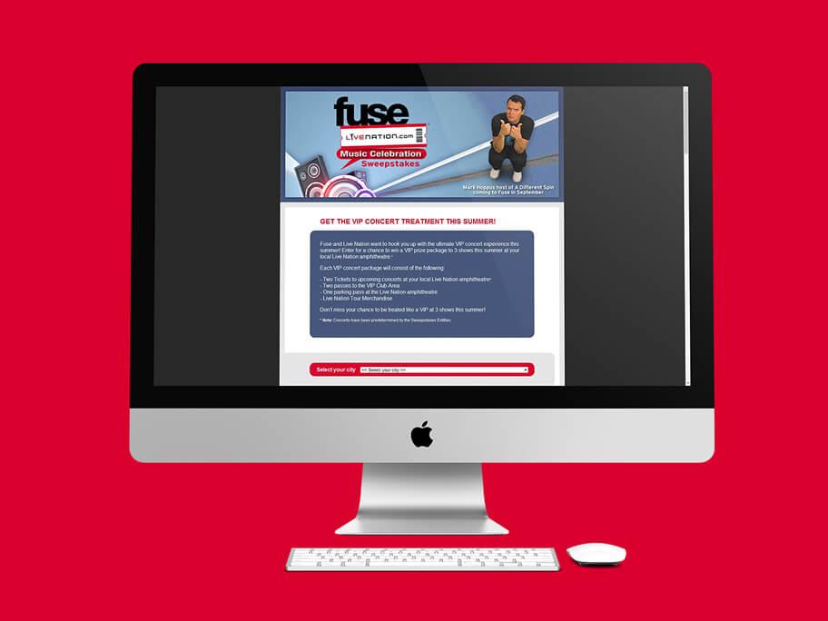 Fuse Live Nation, diseño de página web en HTML5