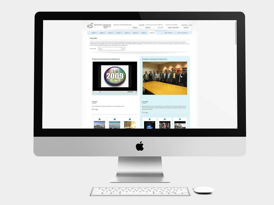 Generation Cognizant, página de Galería, computador