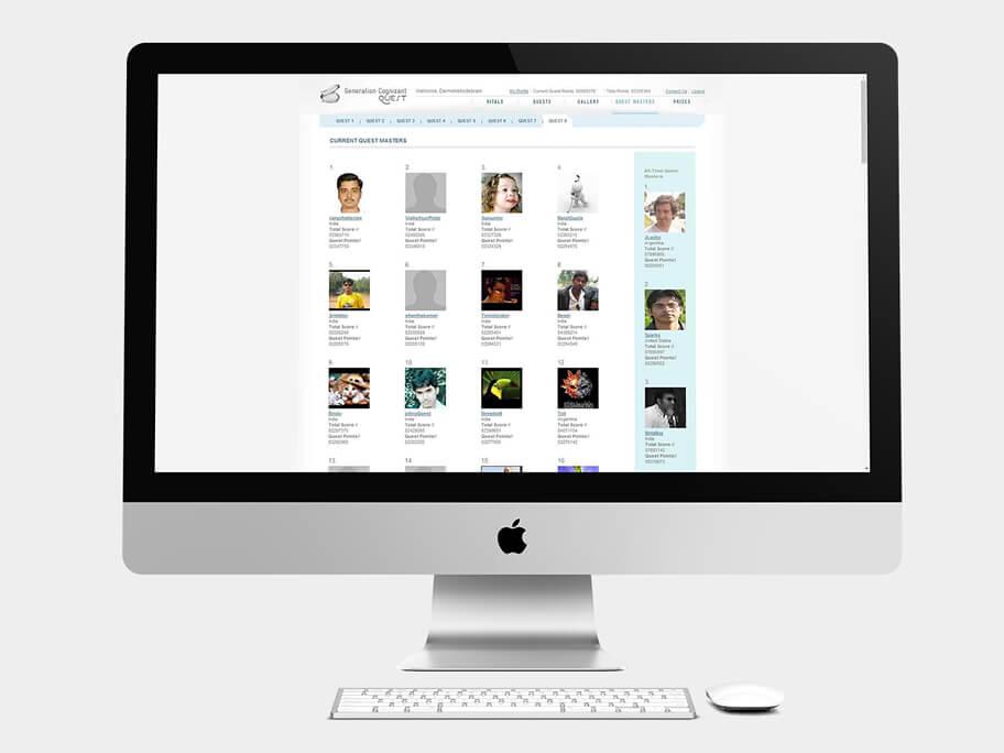 Generation Cognizant, página de Misiones Actuales, computador