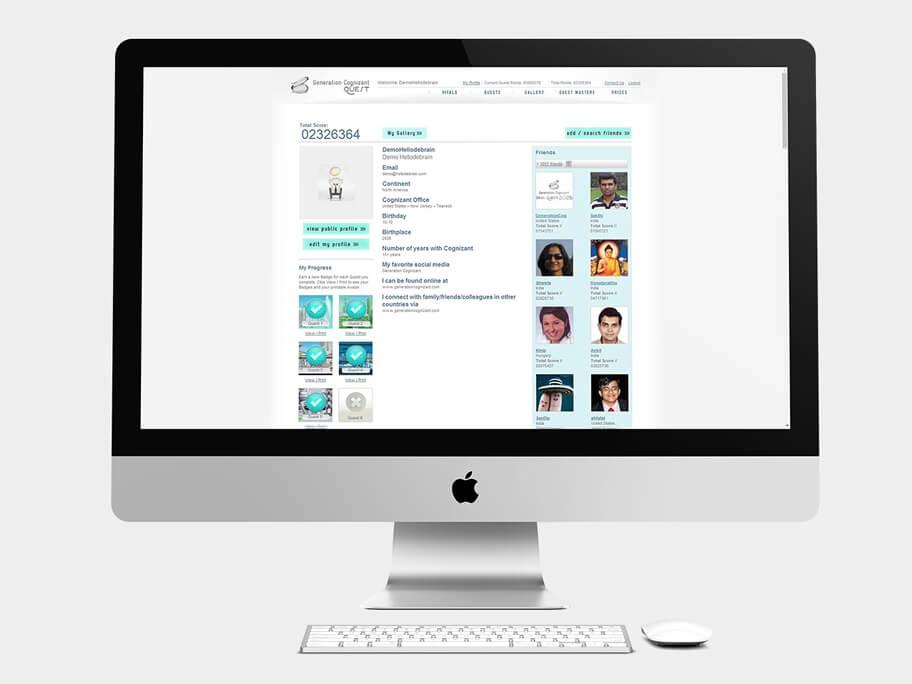 Generation Cognizant, página de Perfil, computador
