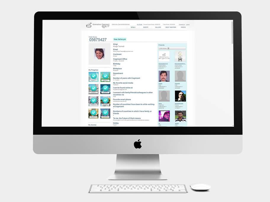 Generation Cognizant, página de Perfil seleccionado, computador