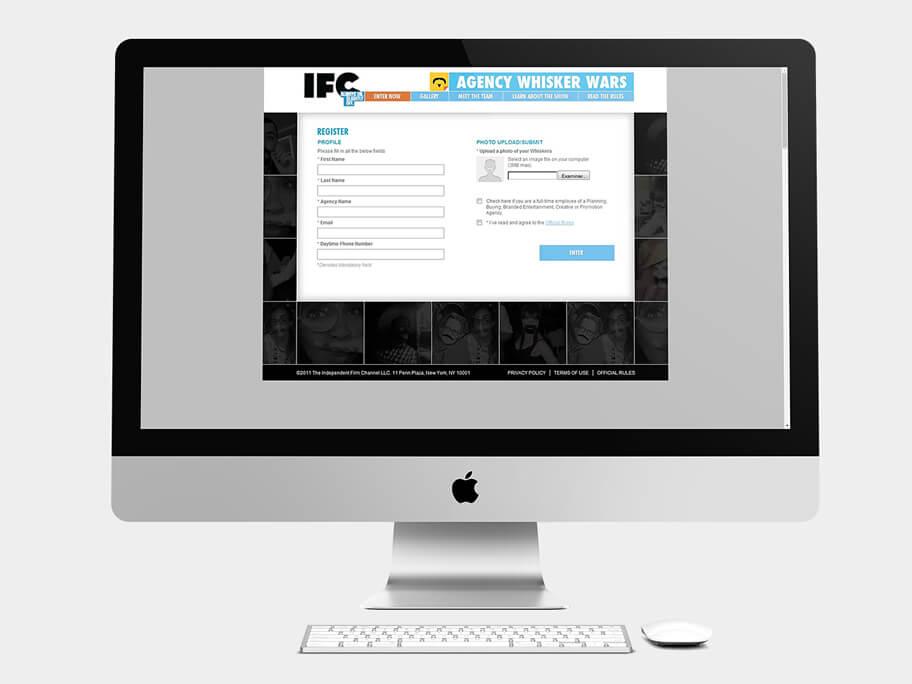 IFC, página de Registro, computador