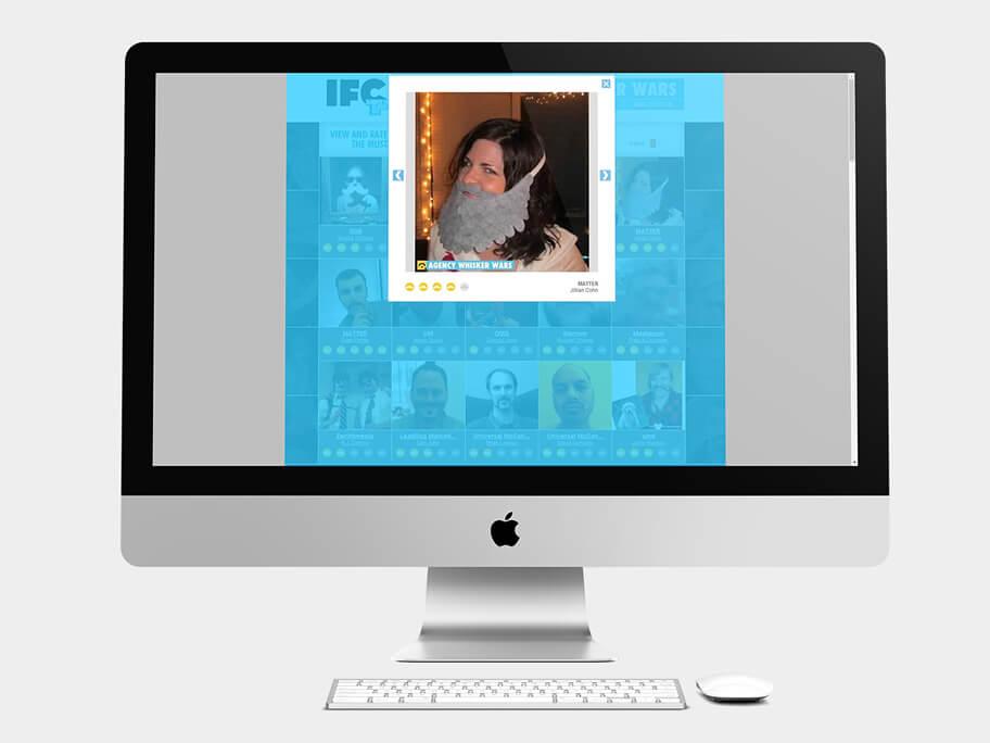 IFC, pop-up de Galería, computador