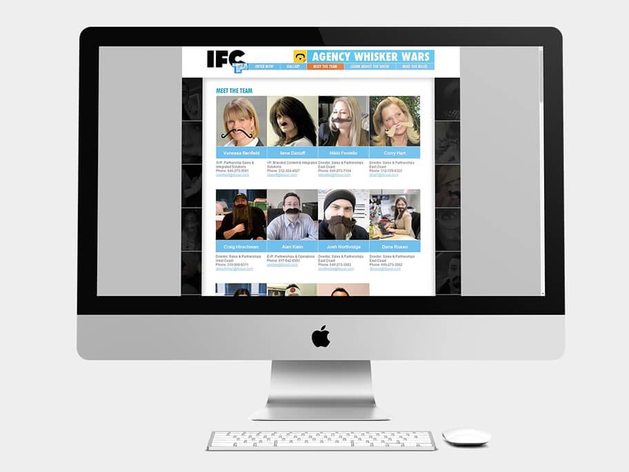 IFC, página de Conoce al Equipo, computador