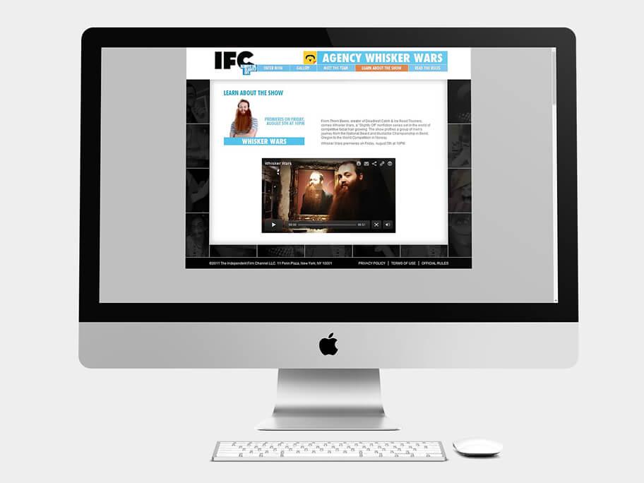 IFC, página de Aprende sobre el Show, computador