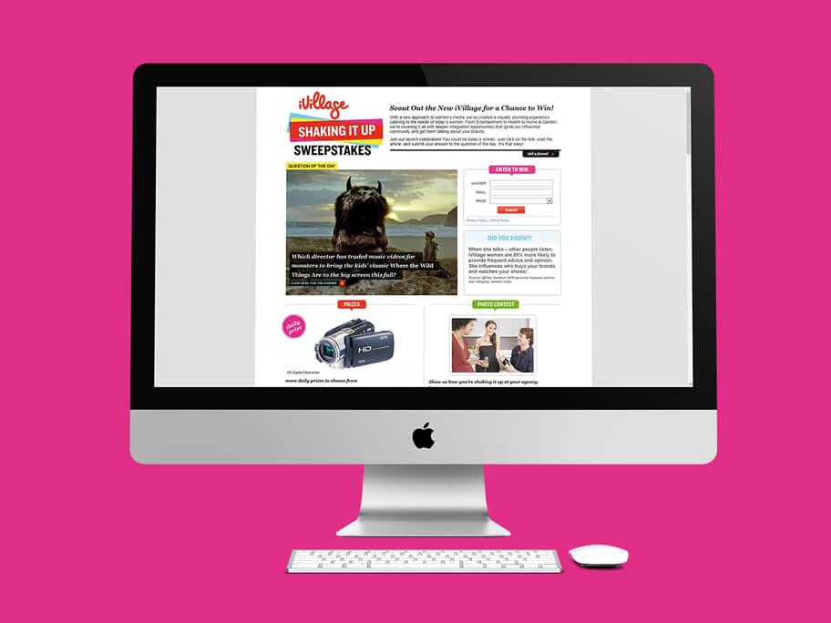 iVillage, diseño de página web en HTML