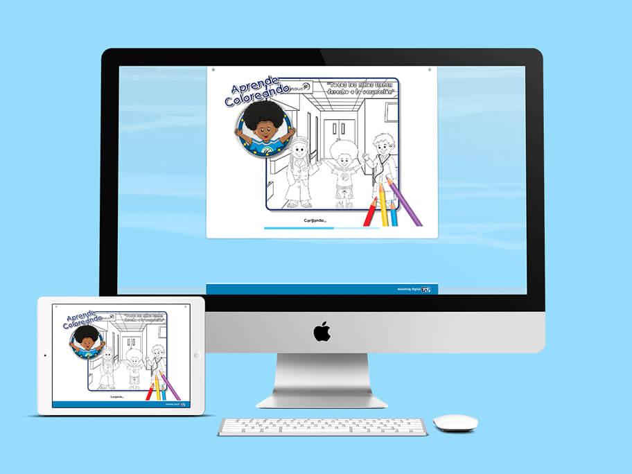 Juego Colorear, diseño de página web y juego en HTML5