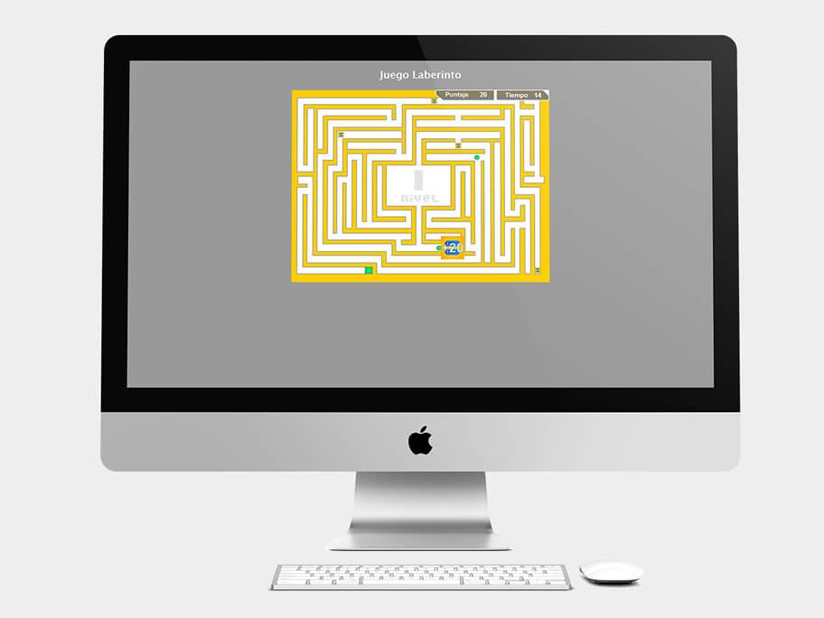 Juego Laberinto, página de Nivel 1, computador