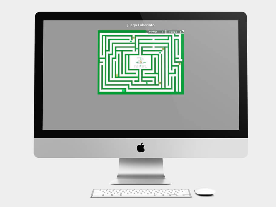 Juego Laberinto, página de Nivel 2, computador