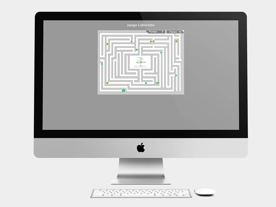 Juego Laberinto, página de Nivel 3, computador
