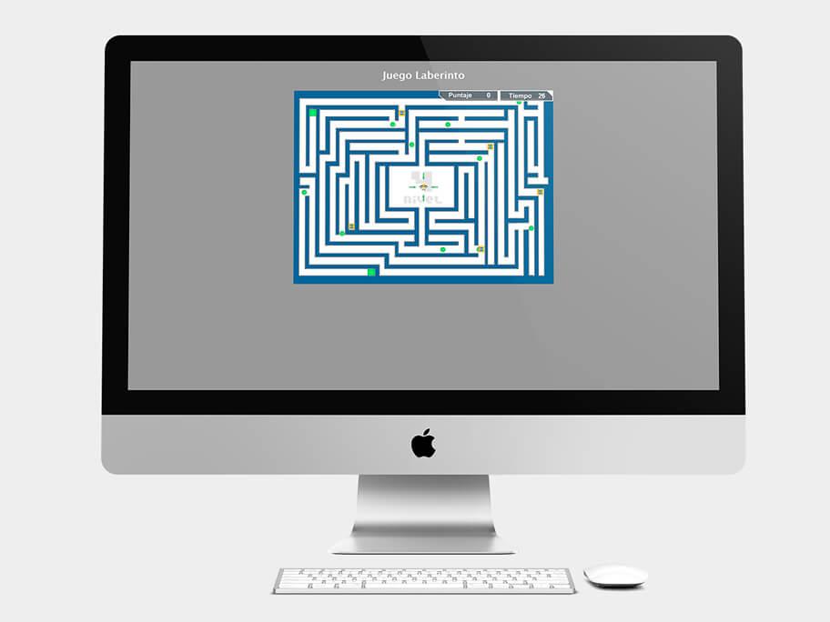 Juego Laberinto, página de nivel 4, en computadores