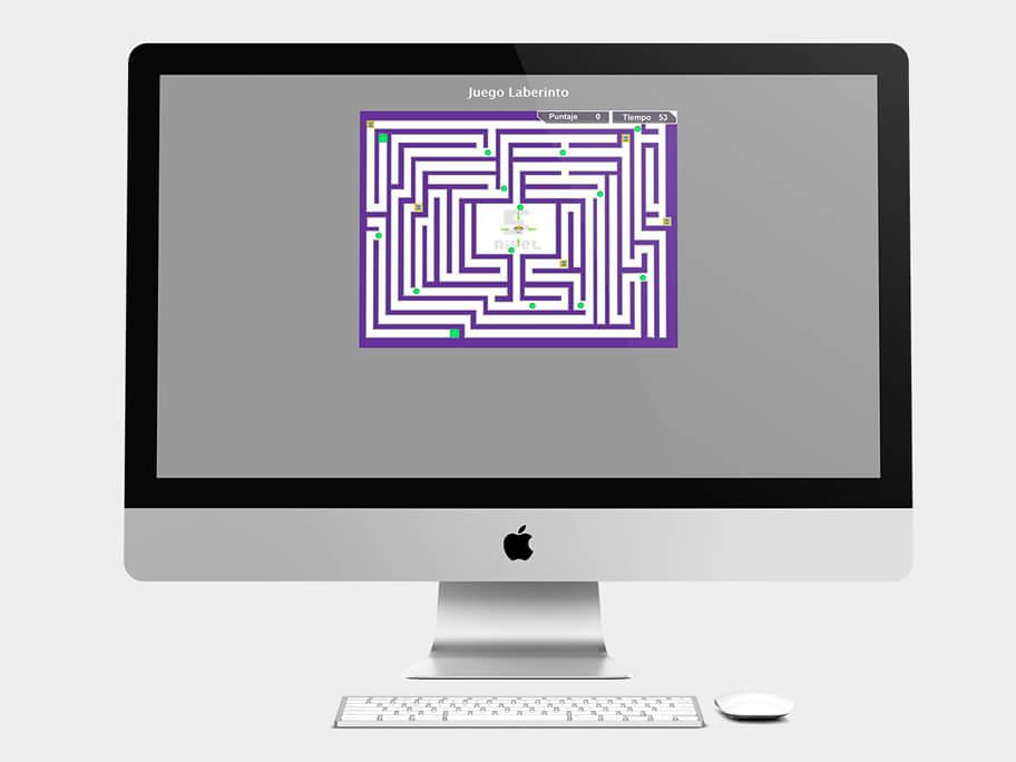 Juego Laberinto, página de Nivel 5, computador