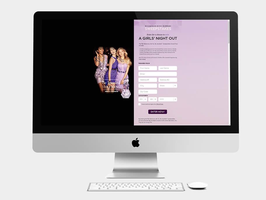 Kohls, página de Inicio y Registro, computador