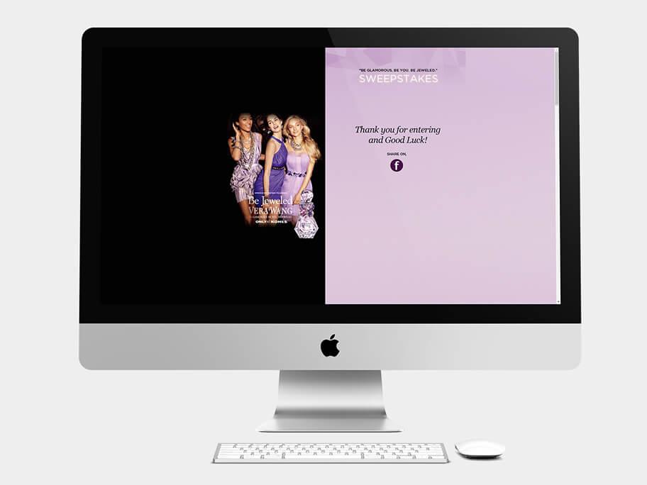 Kohls, página de Confirmación de Registro y Compartir, computador