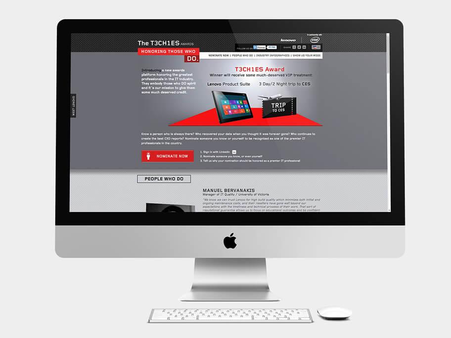Lenovo Thinkpad, página de Inicio, computador