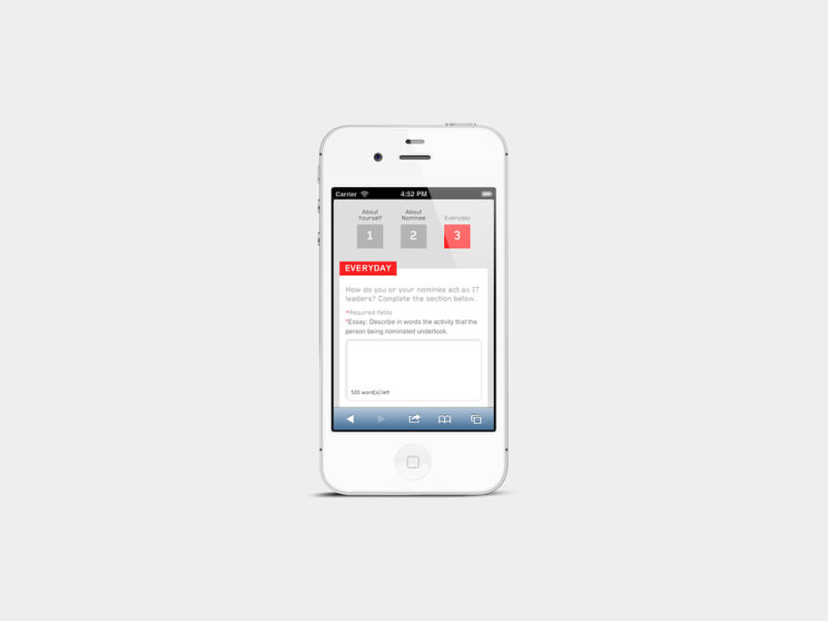 Lenovo Thinkpad, página de Motivo de Nominación, smartphone