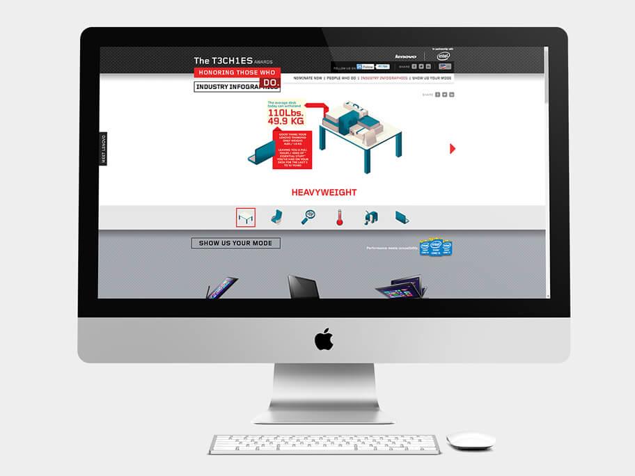 Lenovo Thinkpad, página de Infografía de la Industria, computador