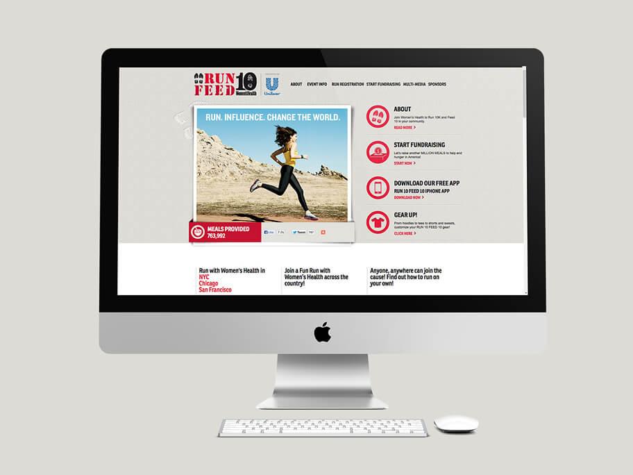 Run 10 Feed 10, diseño de página web en HTML5